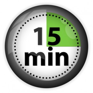 You have 64 15-minute increments today. How will you use them?